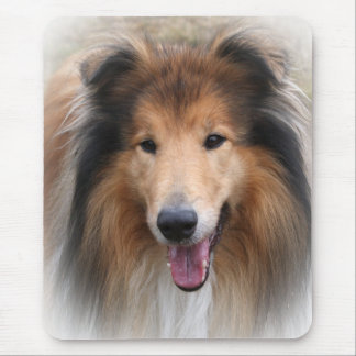 Rough collie dog beautiful photo mousepad