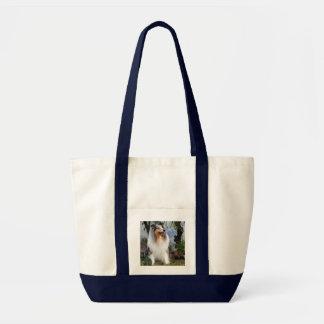 Rough Collie dog beautiful photo tote bag