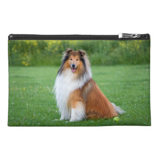 Rough Collie dog beautiful travel accessory bag