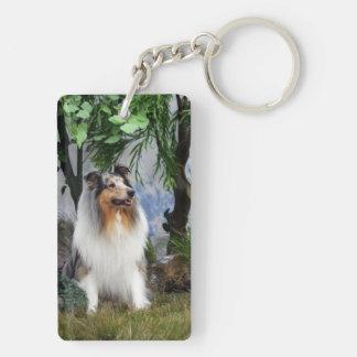 Rough Collie dog blue merle beautiful photo, gift Acrylic Keychain