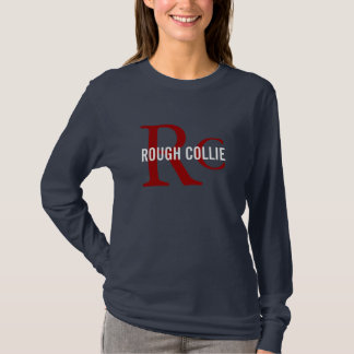 Rough Collie Dog Breed/Dog Lovers Initials Shirt