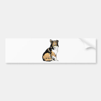 Rough Collie Dog Bumper Sticker