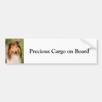 Rough Collie dog custom bumper sticker
