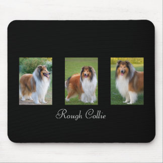 Rough Collie dog lovers custom mousepad