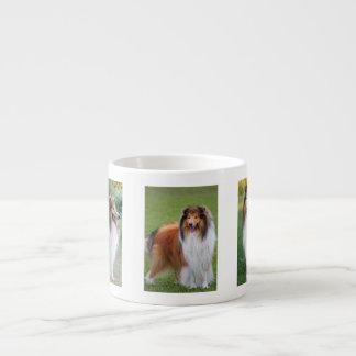 Rough Collie Dog Lovers photo espresso mug