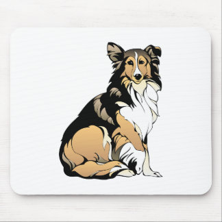 Rough Collie Dog Mouse Pad