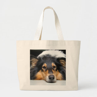 Rough Collie dog nose beautiful photo  tote bag