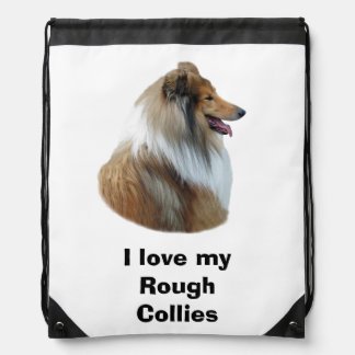 Rough Collie dog portrait photo Backpack