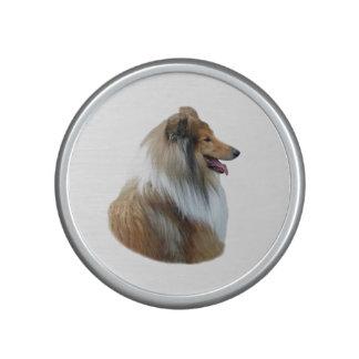 Rough Collie dog portrait photo Bluetooth Speaker