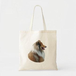 Rough Collie dog portrait photo Canvas Bag
