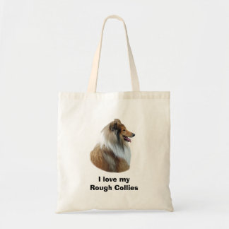 Rough Collie dog portrait photo Canvas Bags