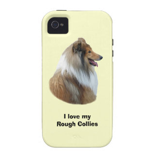 Rough Collie dog portrait photo Vibe iPhone 4 Covers