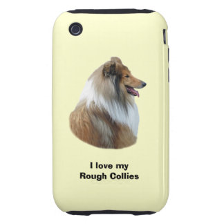 Rough Collie dog portrait photo Tough iPhone 3 Cover