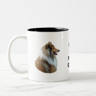 Rough Collie dog portrait photo Coffee Mugs