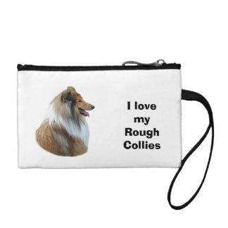Rough Collie dog portrait photo Coin Purses