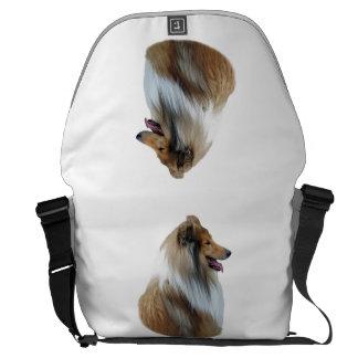 Rough Collie dog portrait photo Courier Bag