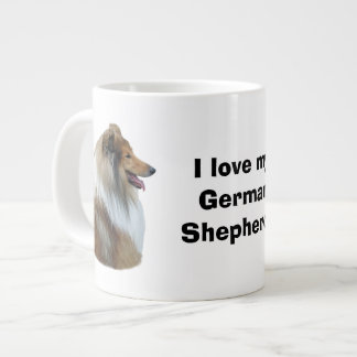 Rough Collie dog portrait photo Extra Large Mugs