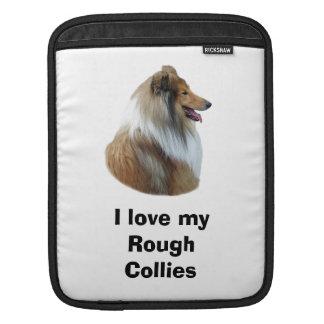 Rough Collie dog portrait photo iPad Sleeve