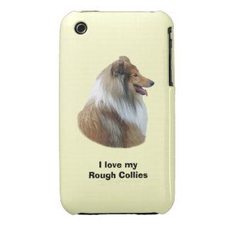 Rough Collie dog portrait photo iPhone 3 Case