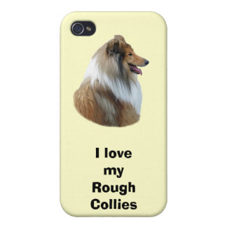 Rough Collie dog portrait photo iPhone 4/4S Case