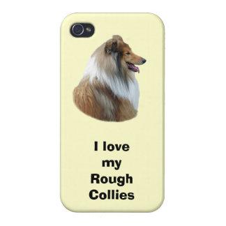 Rough Collie dog portrait photo iPhone 4 Cases