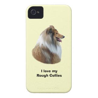 Rough Collie dog portrait photo iPhone 4 Cover
