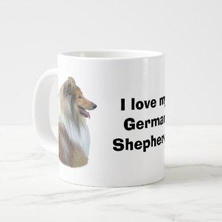 Rough Collie dog portrait photo Jumbo Mug