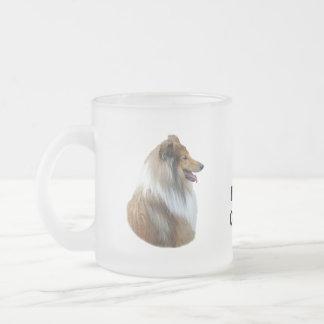 Rough Collie dog portrait photo Mugs