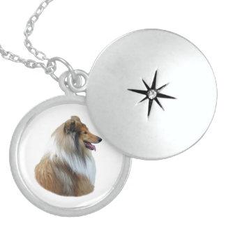 Rough Collie dog portrait photo Necklace
