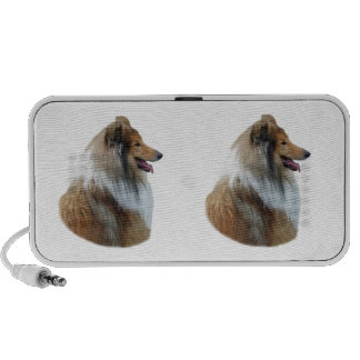 Rough Collie dog portrait photo Speaker System
