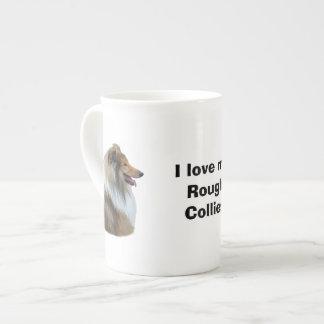Rough Collie dog portrait photo Tea Cup