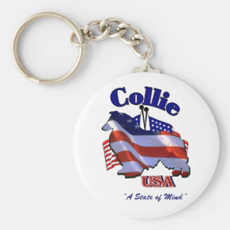 Rough Collie Gifts Keychain