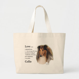 Rough Collie Gifts Jumbo Tote Bag