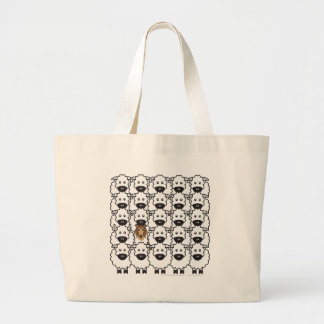 Rough Collie in the Sheep Jumbo Tote Bag