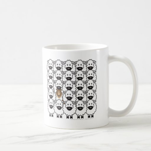 Rough Collie in the Sheep Mugs