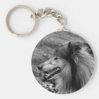 Rough Collie Keyring Key Chains