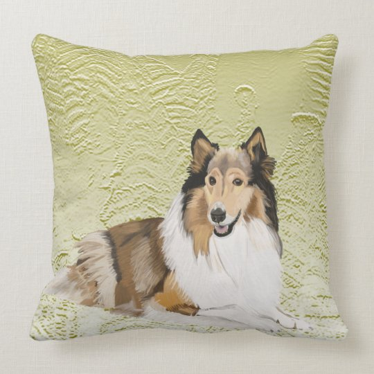 Rough Collie, Long Haired Collie Cushion