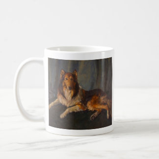 rough collie mug