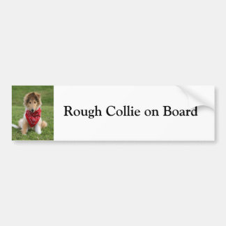 Rough Collie on board custom bumper sticker
