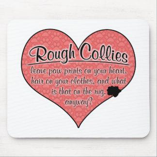 Rough Collie Paw Prints Dog Humor Mousepad