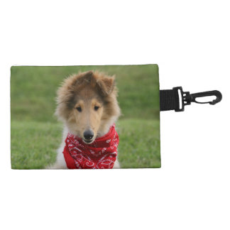 Rough collie puppy dog cute beautiful photo accessory bag