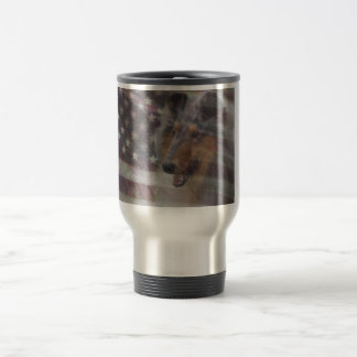 Rough Collie Stainless Steel Travel Coffee Mug