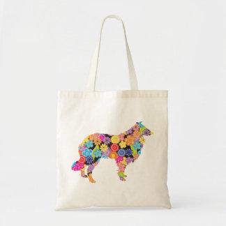 Rough Collie Budget Tote Bag