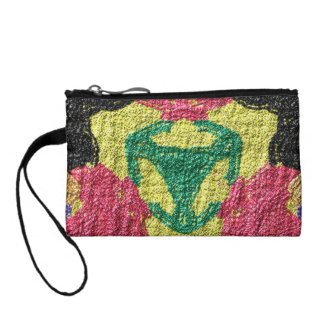 rough colorful pattern change purse