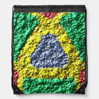 Rough colorful pattern drawstring bag