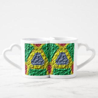Rough colorful pattern lovers mug