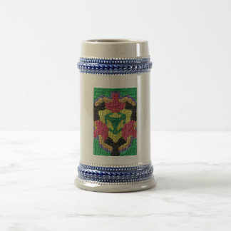 rough colorful pattern mug
