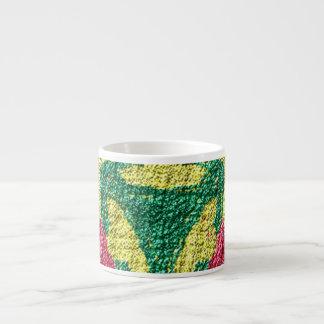 rough colorful pattern espresso cup