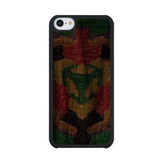 rough colorful pattern walnut iPhone 5C case