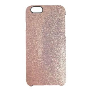 Rough copper clear iPhone 6/6S case